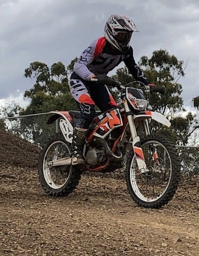 Picture of Megan dirtbiking