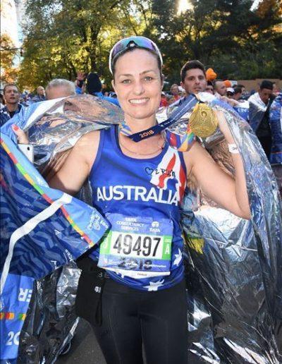 Picture of NYC marathon finish
